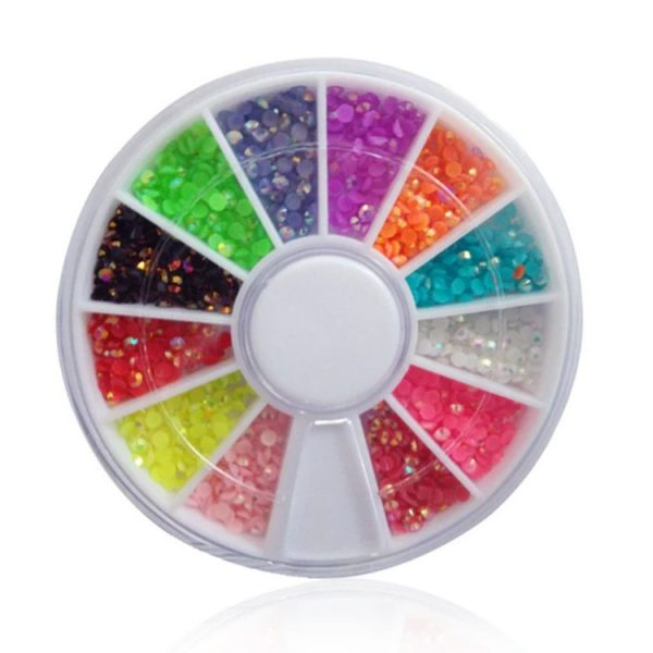 Petits Strass Ronds Multicolores