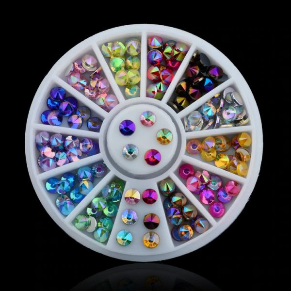 Strass Multicolores Ronds